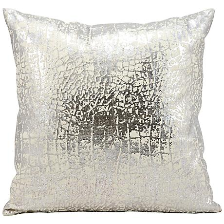 "Kathy Ireland Memories 18"" Square Silver Pillow"