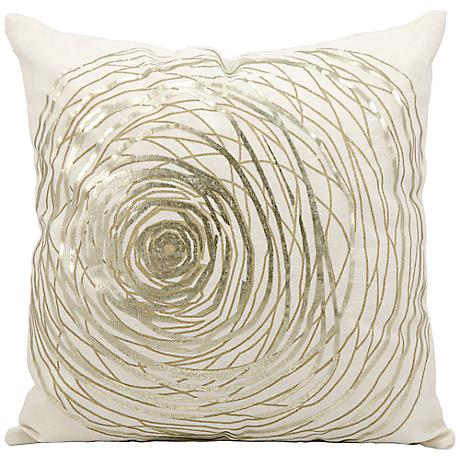 "Kathy Ireland Eternity 19"" Square White Pillow"