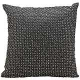 "Kathy Ireland Elegance 16"" Square Charcoal Pillow"