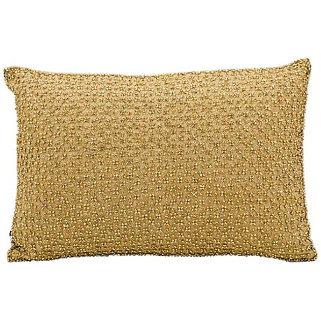 "Kathy Ireland Elegance 10"" x 14"" Gold Pillow"