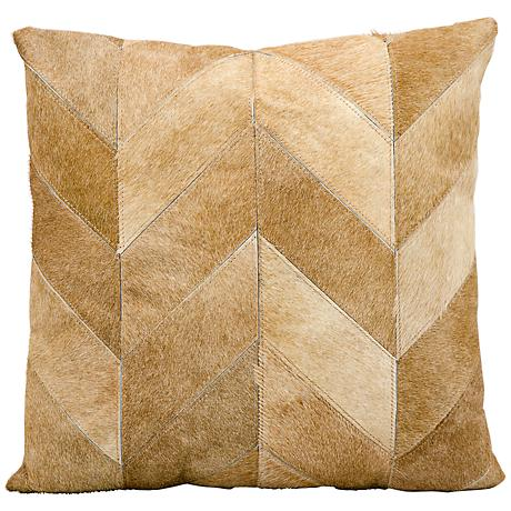 "Kathy Ireland Heritage 20"" Square Beige Pillow"