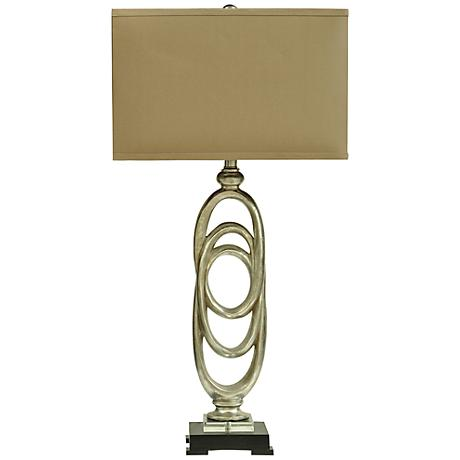 Crestview Collection Rings Toasted Silver Table Lamp