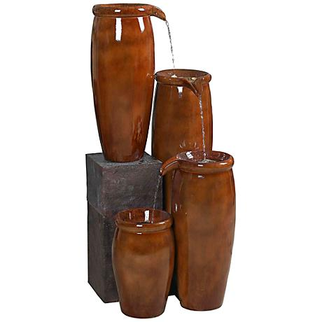 Kenroy Home Agua Cascading Jugs Indoor-Outdoor Fountain
