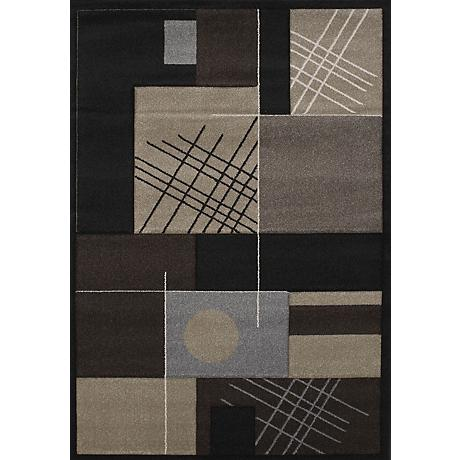 Townshend Touche Black 01470 Area Rug