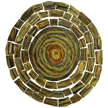 "BJ Circle 37 1/2"" Round Metal Wall Art"