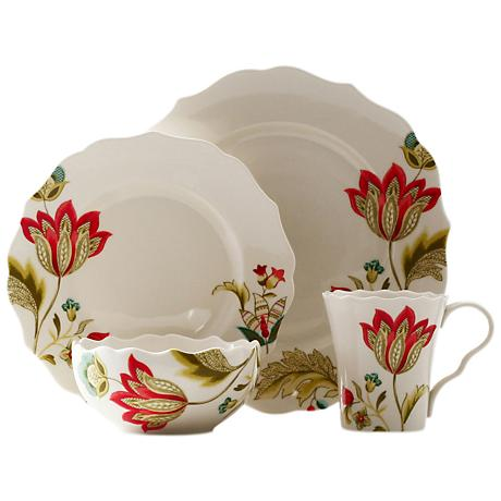 222 Fifth Bella Donna 16-Piece Dinnerware Set