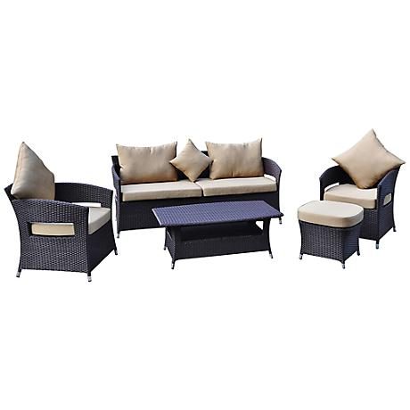 Opulence Collection Aria 5-Piece Wicker Outdoor Lounge Set