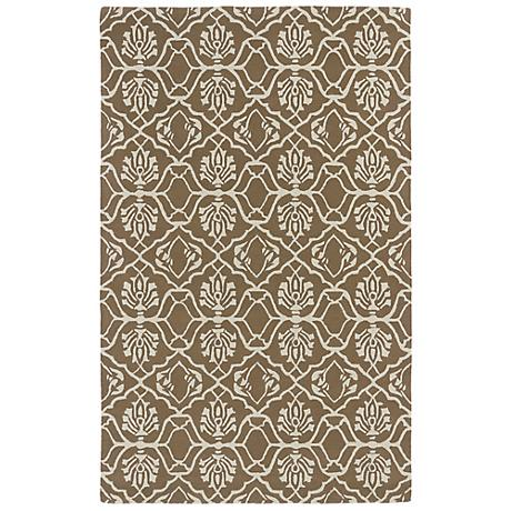 Kaleen Evolution EVL01-82 Light Brown Wool Area Rug