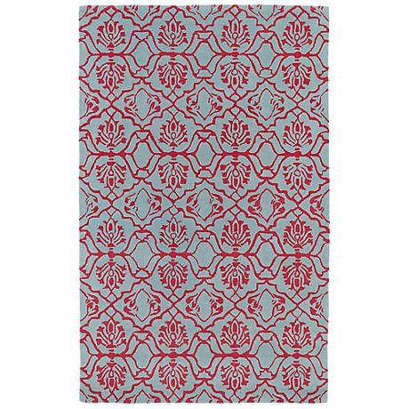 Kaleen Evolution EVL01-92 Blue and Pink Wool Area Rug