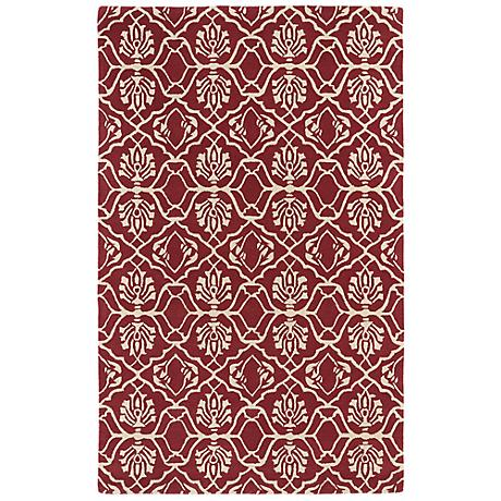 Kaleen Evolution EVL01-93 Berry Wool Area Rug