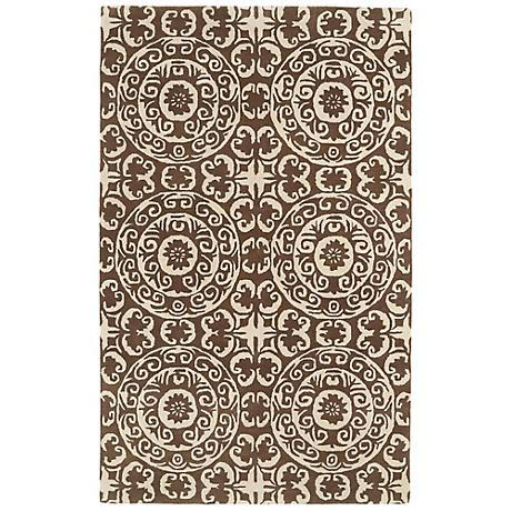 Kaleen Evolution EVL03-49 Brown Wool Area Rug
