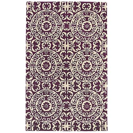 Kaleen Evolution EVL03-95 Purple Wool Area Rug