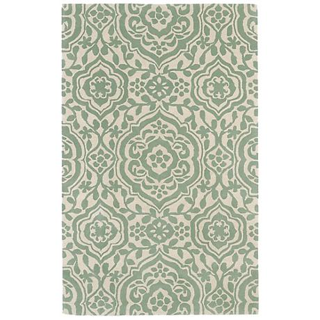 Kaleen Evolution EVL04-88 Mint Wool Area Rug