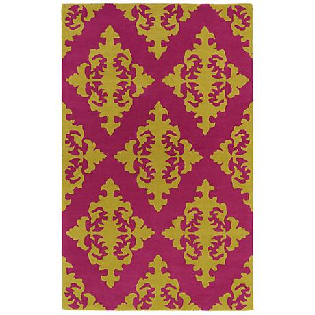 Kaleen Evolution EVL05-92 Pink Wool Area Rug