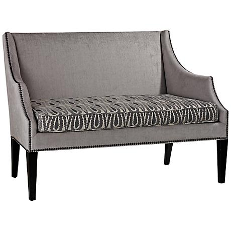 Ventnor Collection Abstract Feather Upholstered Loveseat