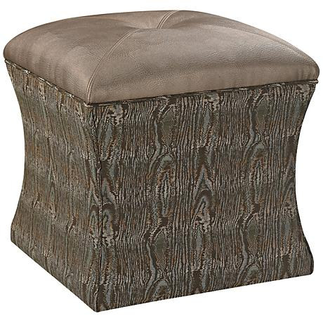 Luxe Collection French Moss Upholstered Ottoman
