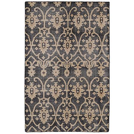Kaleen Restoration RES01-02 Black Wool Area Rug