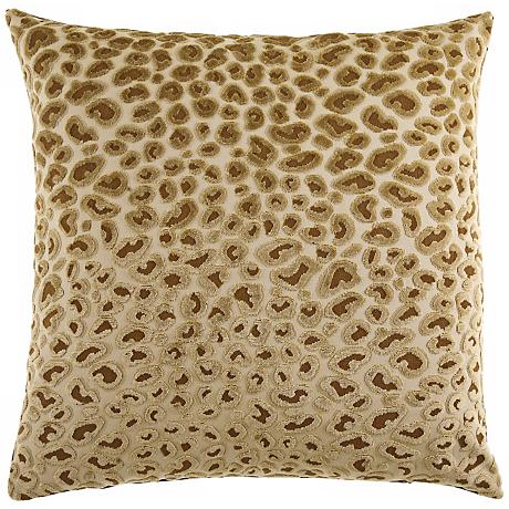 "Cheetah Gold 20"" Square Decorative Pillow"