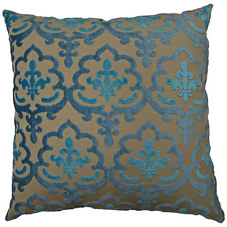 "Marrisett Peacock 24"" Square Decorative Pillow"