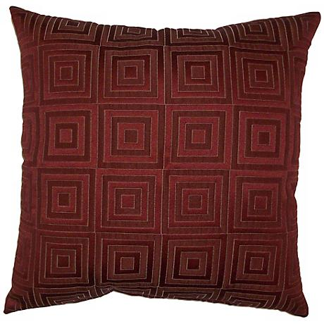 "Rust Red Squared 20"" Square Decorative Pillow"