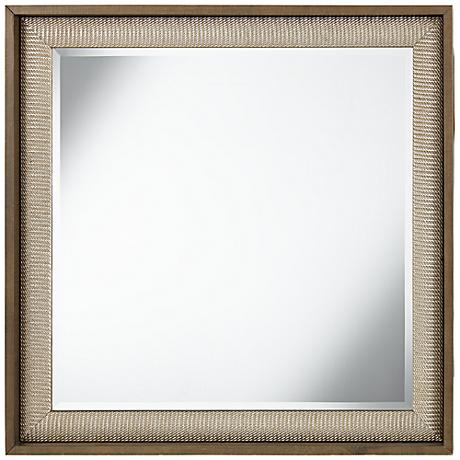 "Ryer Silver Twist 36"" Square Wood Wall Mirror"