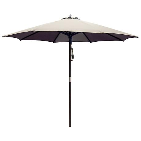 Bourke Dark Tan 9' Market Umbrella