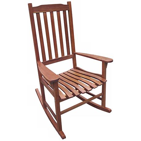 Parklawn Natural Acacia Outdoor Traditional Rocking Chair
