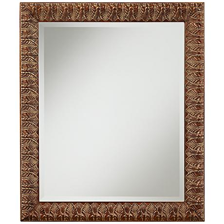 "Millry Laurel Leaves 24 1/2"" x 28 3/4"" Wall Mirror"
