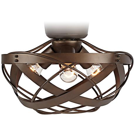 Orbital Weave Oil-Rubbed Bronze Fan Light Kit