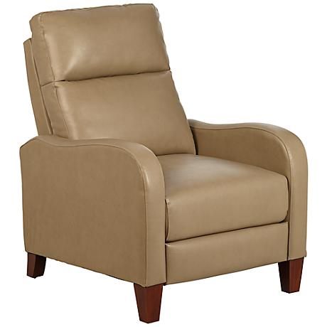 Zeus Beige Bonded and Faux Leather 3-Way Recliner Chair