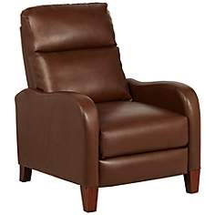 Zeus Recliner in Brown Bonded and Faux Leather