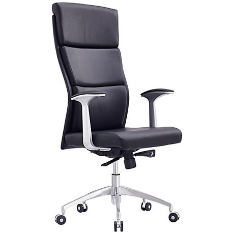 Harvard Executive Black Faux Leather Office Chair