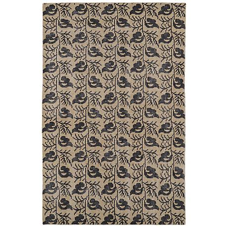 Kaleen Restoration RES03-05 Gold Wool Area Rug