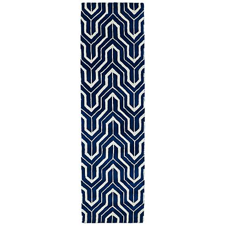 Kaleen Revolution REV01-22 Navy Wool Area Rug