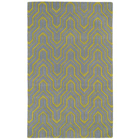 Kaleen Revolution REV01-75 Gray Wool Area Rug