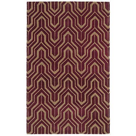 Kaleen Revolution REV01-87 Plum Wool Area Rug