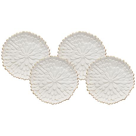 Mum White Ceramic Plates Set of 4