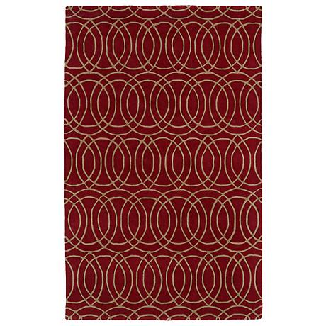 Kaleen Revolution REV02-25 Red Wool Area Rug