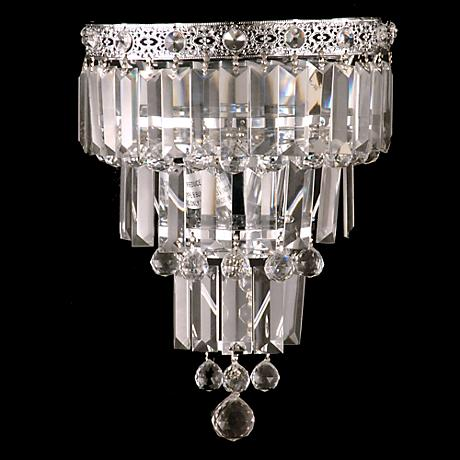 "Bradford 13"" High Small Faceted Crystal Wall Sconce"
