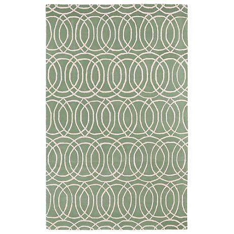 Kaleen Revolution REV02-88 Mint Wool Area Rug