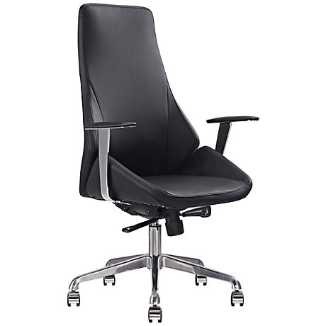 Natasha Executive Black Faux Leather Office Chair