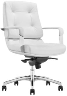 Princeton Low Back White Faux Leather Office Chair (5P203) 5P203