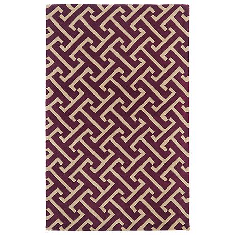 Kaleen Revolution REV04-87 Plum Wool Area Rug