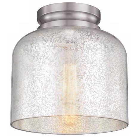 "Feiss Hounslow 9"" High Steel and Glass Ceiling Light"