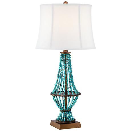 Barth Blue Stone Table Lamp