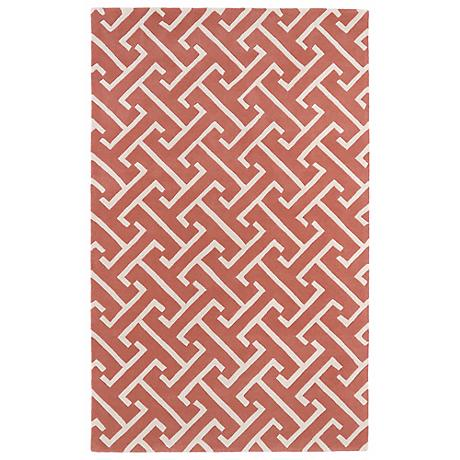 Kaleen Revolution REV04-92 Pink Wool Area Rug