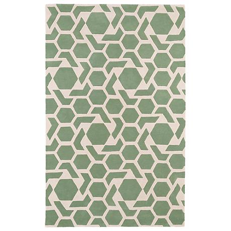 Kaleen Revolution REV05-88 Mint Wool Area Rug
