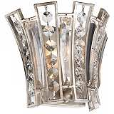"Feiss Soros 7 1/4"" High Ebonized Silver Leaf Wall Sconce"