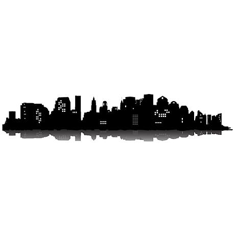 Black Cityscape Wall Decal