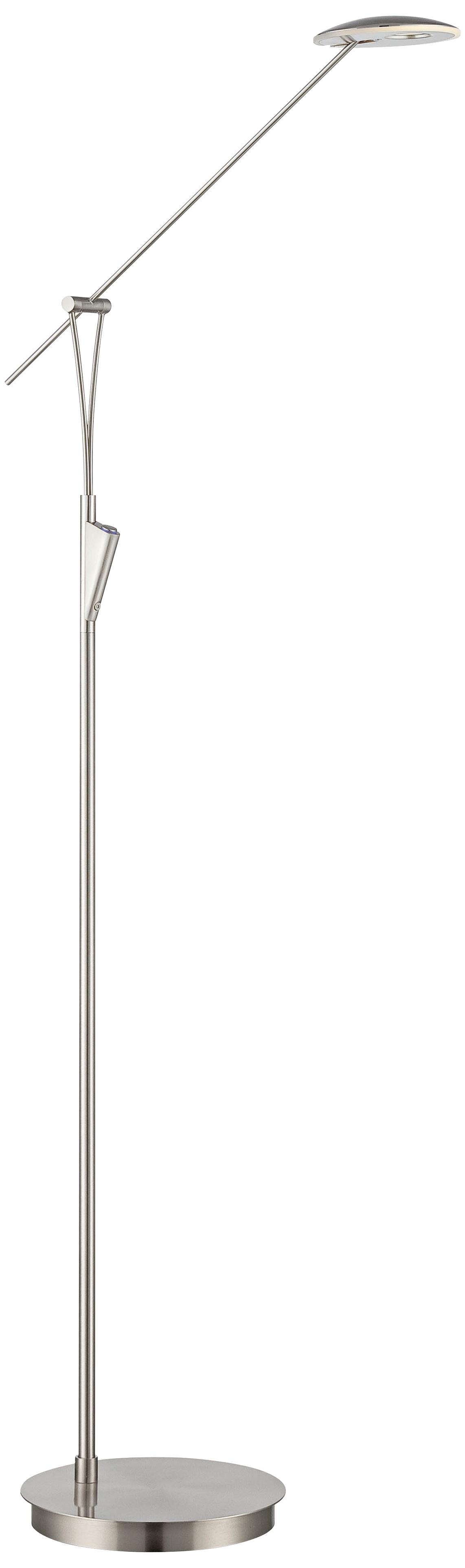 Lite Source Kamana Satin Chrome LED Floor Lamp (5P417)